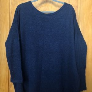 Navy Piko Sweater